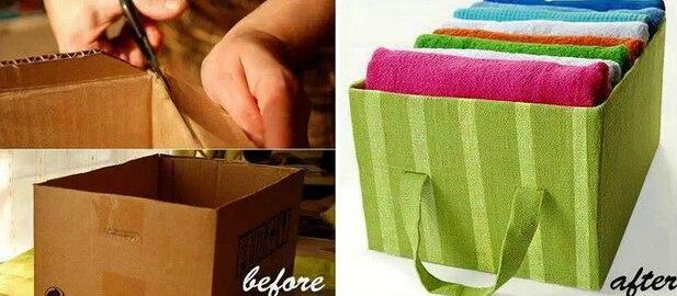 废物利用手工制作大全 简单 鞋盒子