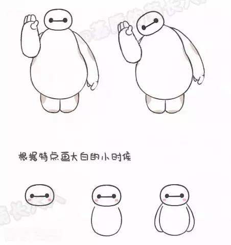 超简单动漫简笔画,大白,流氓兔,史努比都有喔,好q为孩子收藏