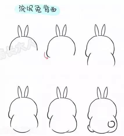 超简单动漫简笔画,大白 流氓兔 史努比都有喔,好Q为孩子收藏