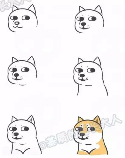 超简单动漫简笔画,大白