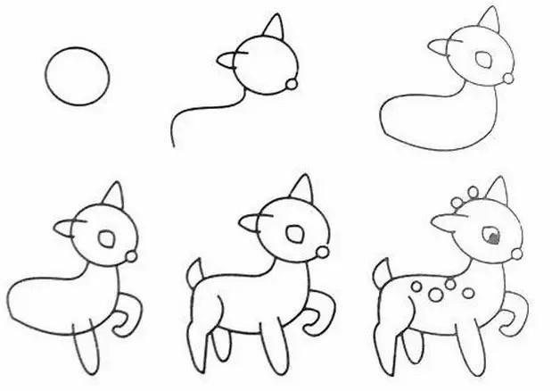 绘画和孩子 是一种天生的技艺,小孩子的一个爱好既是涂鸦,那些巧夺天工的画面组合,能够更多激发孩子们的想象力。给大家推荐几款儿童简笔画教程! 1、刺猬  2、骆驼  3、金鱼  4、老鼠  5、蜻蜓  6、小鹿  7、猴子  来源:互联网,版权属于原作者 — 猜你还想看: