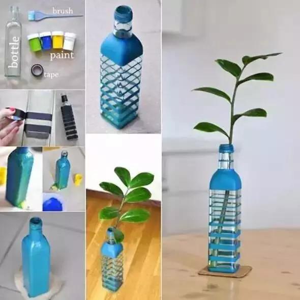 废品手工制作花瓶小视频