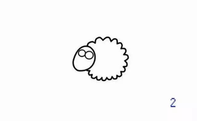 每日一简笔画 小羊肖恩,我最爱看的一部动画之一