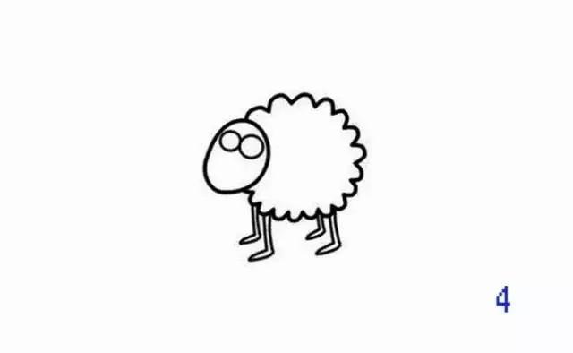 每日一简笔画——小羊肖恩,我最爱看的一部动画之一