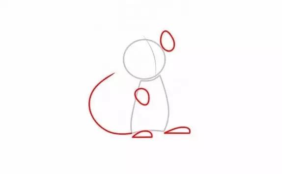每日简笔画——学画小猫咪玩毛线球