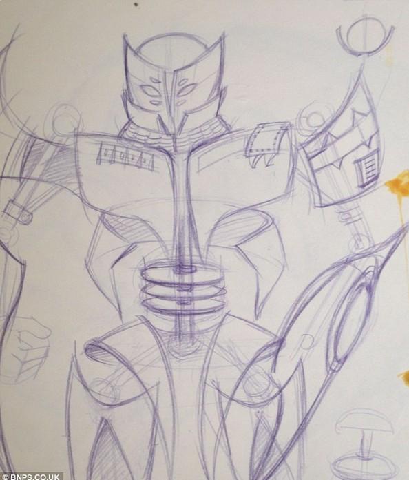 蝙蝠素描画法步骤