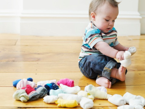 Boy with Socks